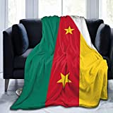 ZHYY The Republic of Cameroon Flag Ultra-Soft Micro Fleece Throw Blanket Luxurious Silky Fluffy Plush Airplane Blanket for Autumn Winter