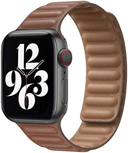 Jakpas Leather Link Band Compatible with Apple Watch Band 42mm 44mm Compatible for iWatch Series product image