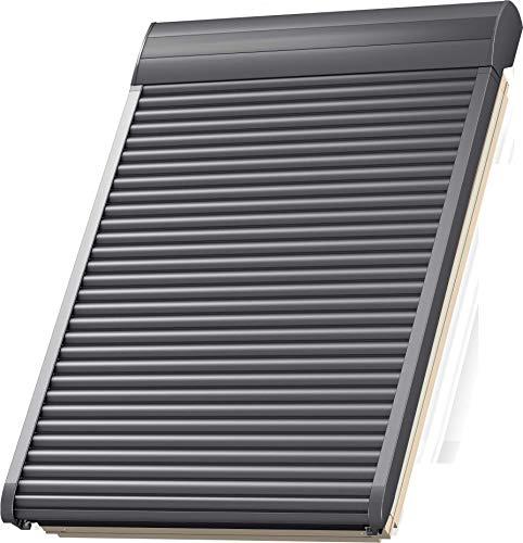 VELUX Elektro-Rollladen SML MK06 0000S, Aluminium Dunkelgrau