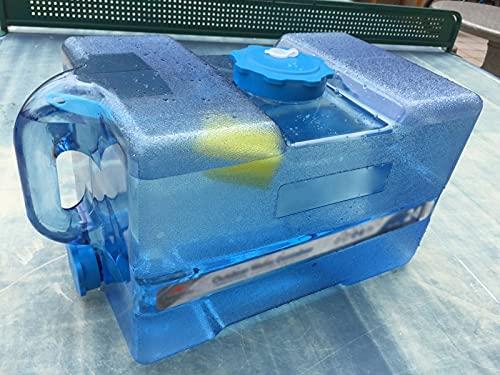 WWJQ Bidón Plástico, Recipiente para Agua De Coche al Aire Libre, Tanque De Agua Portátil Grueso, Tanque De Almacenamiento Cubo de Grande 12L 19L 24L, con Tapa