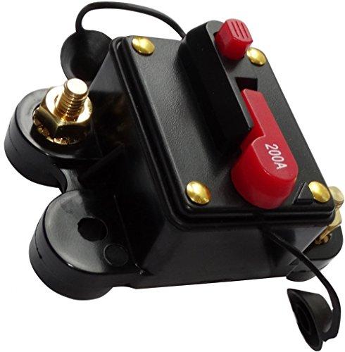 Aerzetix: 200 A 12 V 24 V 32 V 48 V zekering 78 x 52 x 37 mm IP67 versterker auto C14615