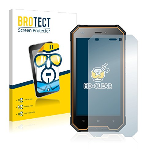 BROTECT Schutzfolie kompatibel mit Blackview BV4000 Pro (2 Stück) klare Bildschirmschutz-Folie