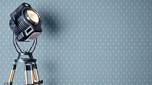 NEWROOM Tapete grafisch blau Muster Tapeten der 50er Art Deco Vliestapete Vlies Tapete Luxus Modern Glamour inkl. Tapezier Ratgeber ǀ Grafik