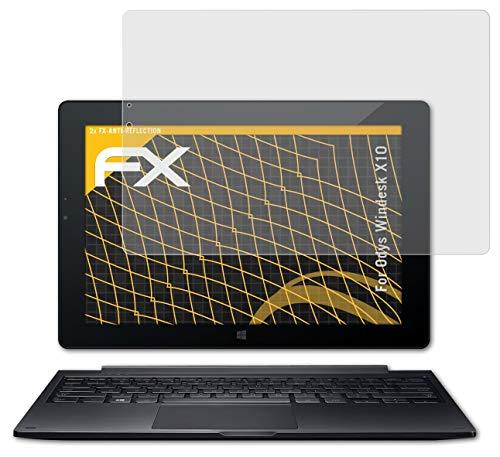 atFolix Panzerfolie kompatibel mit Odys Windesk X10 Schutzfolie, entspiegelnde & stoßdämpfende FX Folie (2X)