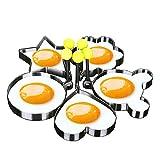 Makidar 5 formas molde de huevo frito anillo de huevo tallador de huevo...