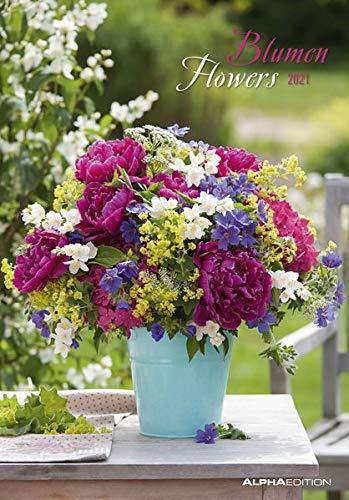 Blumen 2021 - Bild-Kalender 24x34 cm - Flowers - Wandkalender - mit Platz für Notizen - Alpha Edition