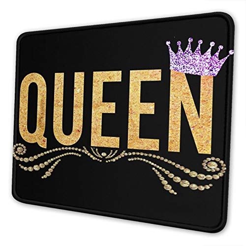 Gold Queen Gaming Mouse Pad, with Design,Waterproof and Non-Slip Rubber Base Office Mousepad