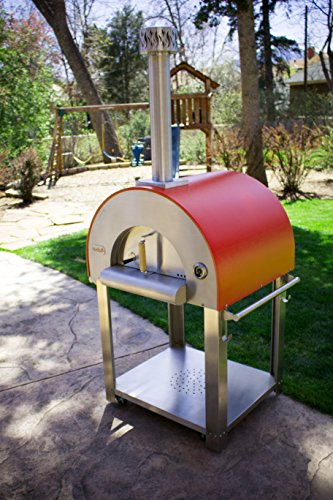 Bella Medio28 Portable Pizza Oven - 304 Stainless Steel - High Grade Ceramic Floor - Made in The USA