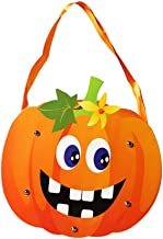 Nesee Halloween Trick or Treat Bags, Reusable Cardboard DIY Drawstring Tote Bag, Kids Candy Gift Bag, Spider Pumpkin Gift Sack Halloween Party Decorations