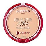 Bourjois Cipria Compatta Healthy Mix Zero Segni di Stanchezza, Formula Opacizzante e Uniformante con Vitamine A, E e B5, 002 Light Beige, 11 g