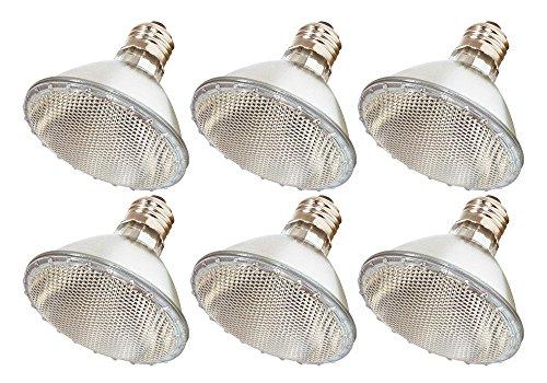 (Pack Of 6) 39PAR30/FL 120V - 39 Watt High Output (50W Replacement) PAR30 Flood Short Neck - 120 Volt Halogen Light Bulbs