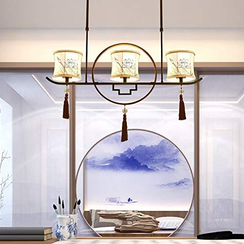 De enige goede kwaliteit Indoor Odern Chinese Driekoppige Zen Tea Room Nieuwe Chinese Restaurant Plafond Lamp Creatieve Antieke Studie Bar Tafelkleed Kroonluchter