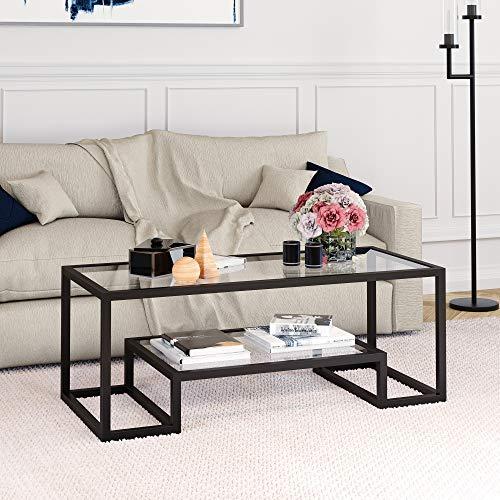 Modern Geometric-Inspired Glass Coffee Table
