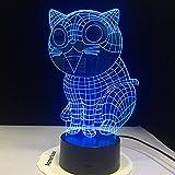 WxzXyubo Regalo de vacaciones del juguete de los niños del gato LED de la luz de la noche 3D