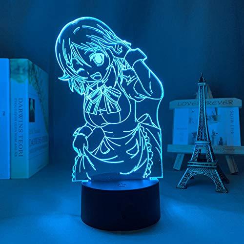 3D Anime Lámpara Acrílico Led Luz Espada Arte En Línea Lisbeth Figura para Dormitorio Decoración Nightlight Regalo Cuarto De Cumpleaños Control Remoto