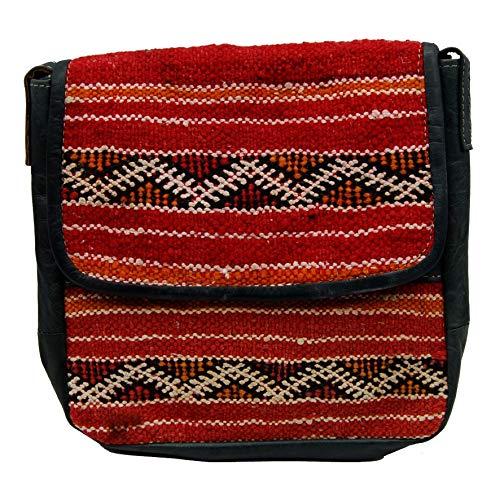 Etnico Arredo Bolso bandolera auténtica piel africana Marruecos cuero vintage 0705201113