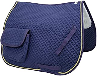 Derby Originals Dressage / Australian Saddle Pad with Pockets and Half Fleece Lining
