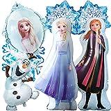 Elsa - Decoración para fiesta de cumpleaños, 7 unidades, globos de helio congelados, para niñas y mujeres, cumpleaños, baby shower, fiesta de fondo