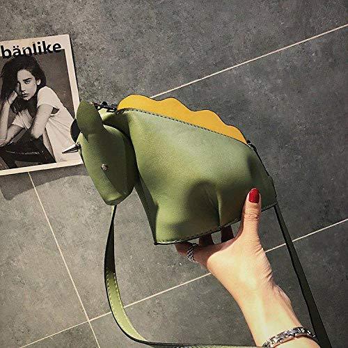 Frauentasche Frauentasche Niedliche Persönlichkeit Einhorn Stil Tasche Kreative Tierniete Kleine Schulter Umhängetasche Frauen Umhängetasche Ledertasche ArmyGreen
