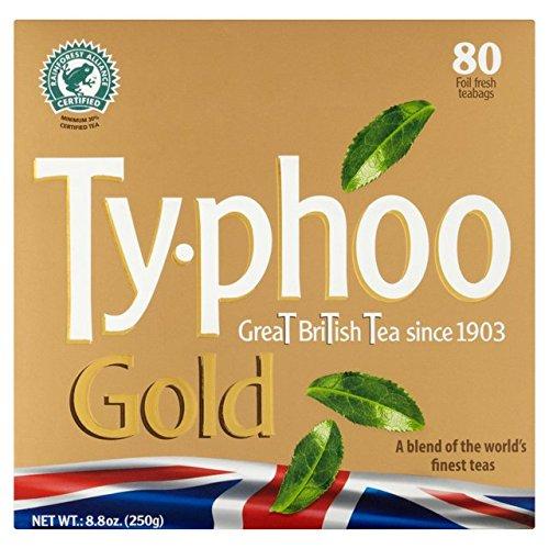 Typhoo Gold-Teebeutel 80 pro Packung