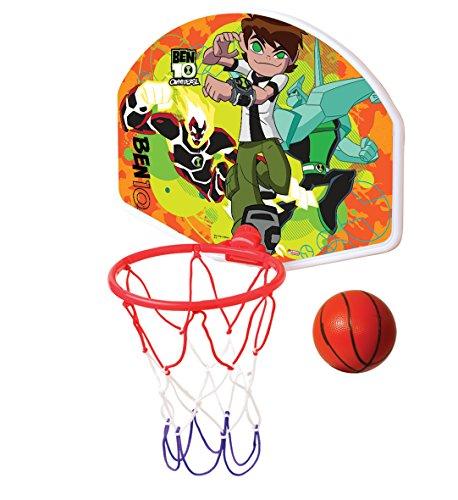 Set tabellone per basket con palla e canestro, disponibile con diversi personaggi Disney, Ben10