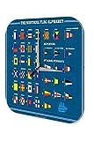 Reloj De Pared Trotamundos Alfabeto de Banderas náuticas Impreso