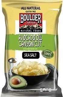 Boulder Canyon Avocado Oil Canyon Cut Potato Chips Sea Salt - 5.25 oz