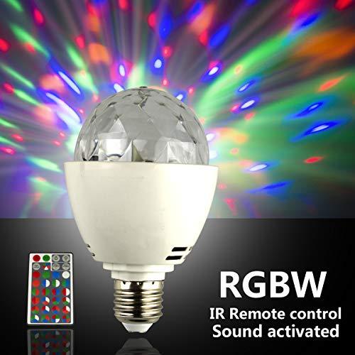 Discokugel E27 RGBYW Fernbedienung LED Partybeleuchtung Lichteffekte Bühnenlampen Glühbirnen Partylicht Lampe Fernsteuerung für Geburtstagsparty Hochzeitsfest Weihnachten Halloween