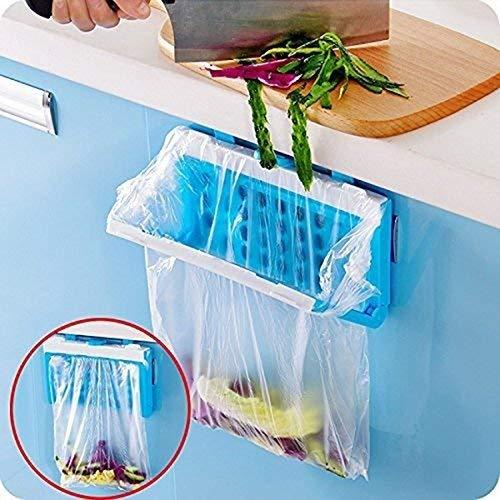 HULISEN Zusammenklappbar Praktischer Küchenschrank Trash Tasche Inhaber Schrank Heckklappe Ständer Aufbewahrung Garbage Aufbewahrungstasche Halterung Kunststoff Halterung
