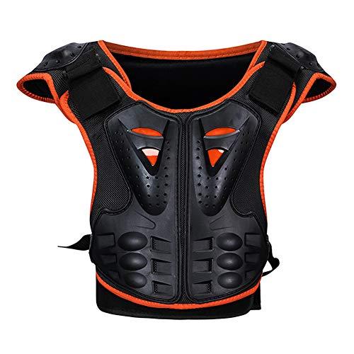 RENNICOCO Kinder Brustwirbelsäule Schutz Körper Rüstung Weste Schutzausrüstung für Dirt Bike Motocross Snowboard Skifahren