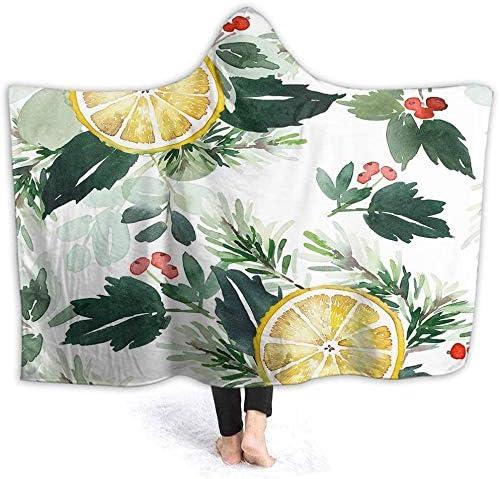 Hooded Blanket Cute Hoodie Berries Red Las Vegas Mall At the price Christmas Lemon
