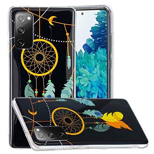 Miagon Leuchtend Luminous Hülle für Samsung Galaxy S20 FE,Fluoreszierend Licht im Dunkeln Handyhülle Silikon Case Handytasche Stoßfest Schutzhülle,Feder Glockenspiel