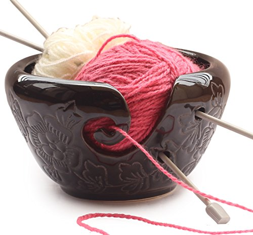 Best Gifts Deals - abhandicrafts Ceramic Black Yarn Bowl for Knitting, Crochet for Moms - Beautiful Gift on All Occasions