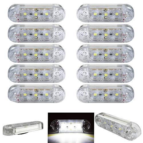 10x 3 SMD LED Begrenzungsleuchten Weiß 12V 24V Positionsleuchten LKW Anhänger