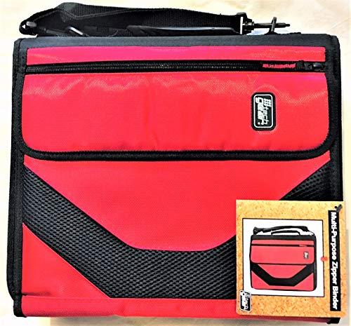 American Studio Tech Gear Muli-Purpose Zipper Binder 2' D-Rings - Red/Black
