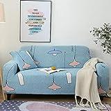 ARTEZXX Funda sofá Cobertura Universal Elástica Completa Funda de sofá Tejido poliéster y Elastano elástica Cubiertas de sofá 1/2/3/4 plazas Azul 2 plazas: 145-185 cm