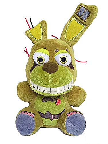 """FNAF Plushies - All Characters(7"""") - (Springtrap) - 5 Nights Freddy's Plush: Chica, Springtrap, Bonnie, Marionette, Foxy Plush - Freddy Plush-FNAF Plush - Kids Toy- Stuffed Animal - XSmart Mall"""