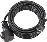 Brennenstuhl Cable alargador, Calidad de goma,–Extensión de cable, IP44,5m, Negro, 1167810, Verlängerungskabel 10 M, 1