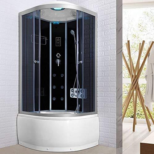Bagno Italia box Idromassaggio 80x80 cabina doccia multifunzione bluetooth 6 idrogetti cromoterapia ozonoterapia