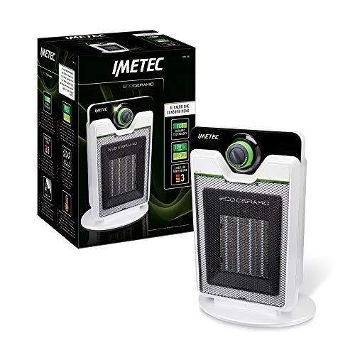 Imetec Eco Ceramic CFH1-100 Termoventilatore con Tecnologia Ceramica a Basso Consumo Energetico, Silenzioso, 3 Livelli di Temperatura, Termostato Ambi