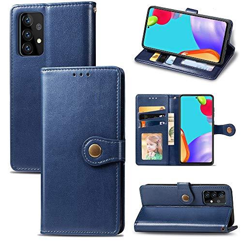 Caja delgada de cuero AGIO PU con cierre magnético inviolable de doble vía para Samsung Galaxy A72, caja de teléfono de standstand multifuncional, caja de cartera para Samsung Galaxy A72