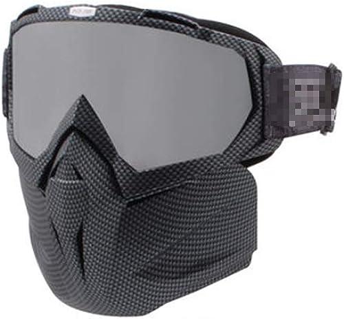 YXLZZO Lunettes de Ski Lunettes de Ski Professionnelles Anti-buée, équipeHommest de Planche Simple et Double pouvant Porter la myopie Masque de Ski (Couleur   C)