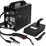 XtremepowerUS MIG 130 Welder Flux Core Wire Automatic Feed Welding Machine AC Core Welding Wire w/Face Mask Kit - 110v