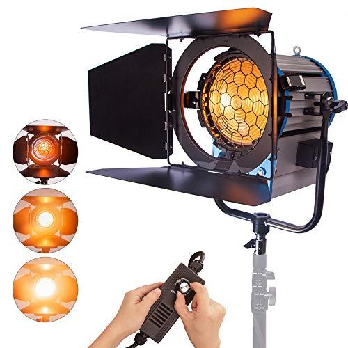 Pro 2000W Fresnel Spotlight Tungsteno Iluminación para Video Studio luz suave con dimmer incorporado y trasero as arri