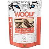 WOOLF Emparedado de color salmón y bacalao 100gr - Golosinas de perros