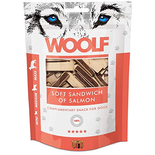 WOOLF saumon Sandwich et morue 100gr - Snacks pour chien