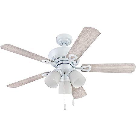 Portage Bay 51444 Miller Park Ceiling Fan, 44, White