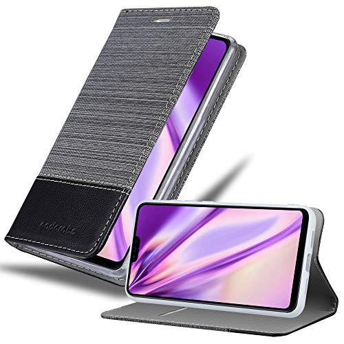 Cadorabo Funda Libro para Xiaomi Mi 8 Lite en Gris Negro - Cubierta Proteccíon con Cierre Magnético, Tarjetero y Función de Suporte - Etui Case Cover Carcasa