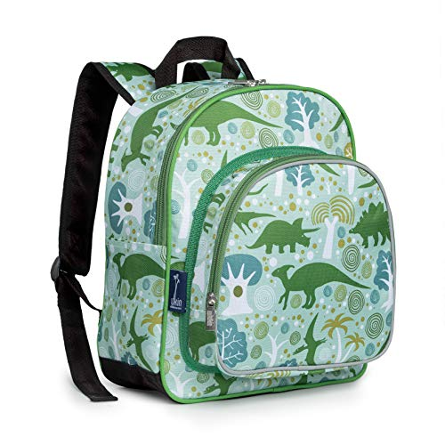 Wildkin Backpack for Toddlers, Boys and Girls Ideal for Daycare, Preschool and Kindergarten, Perfect Size for School and Travel, Mom's Choice Award Winner, Olive Kids (Dinomite Dinosaurs)
