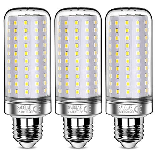 Sauglae Lampadine LED da 26W, 200W Lampadine a Incandescenza Equivalenti, Bianco Naturale 4000K, 2600Lm, E27 Lampadine a Vite Edison, 3 Pezzi